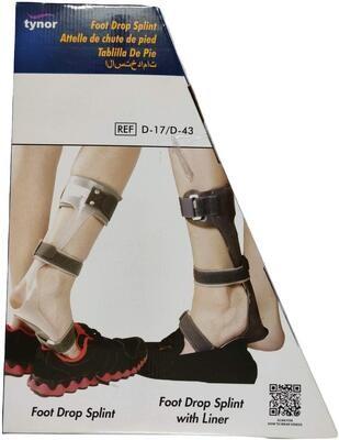 TYNOR Foot Drop Splint  Right & Left s,m,l,xl