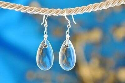 Earrings: Simply Elegant: Teardrops - Silver Clear
