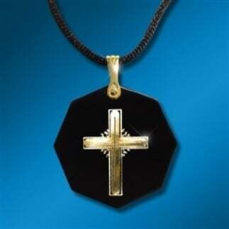 Body Shield: Expression Of Faith - Cross Gold on Black