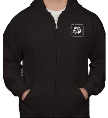 Zip Hoodie with Embroidered Logo