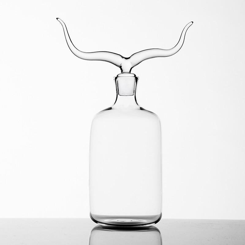 Glass Bottle 'Longhorn'