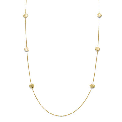 Lovely Daisy Yellow Gold Necklace