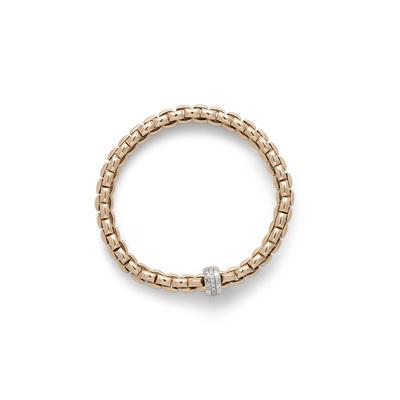 Rose Gold Diamond Link