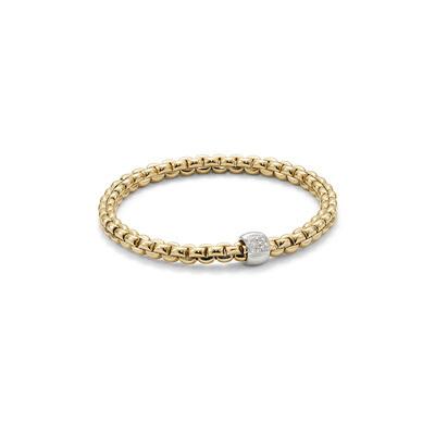 Yellow Gold Diamond Link