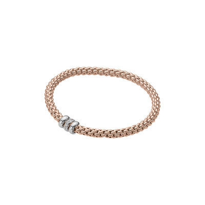 Rose Gold Diamond Rondelle Bracelet