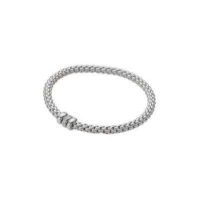 White Gold Diamond Rondelle Bracelet