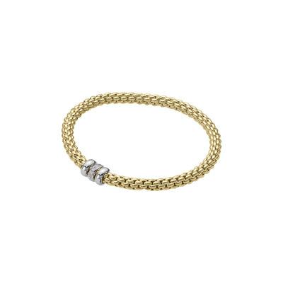 Yellow Gold Diamond Rondelle Bracelet