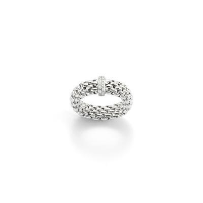 White Gold Diamond Flexable Ring