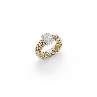 Yellow Gold Diamond Flexable Ring