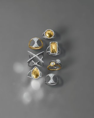 Gold & Pave Rings