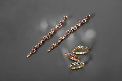 Pointelle Earrings & Rings