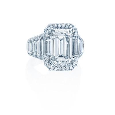 Platinum Emerald Cut Ring
