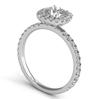 DIAMOND CUSHION HALO RING