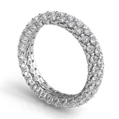 ROYAL PRONG CLUSTER ETERNITY BAND