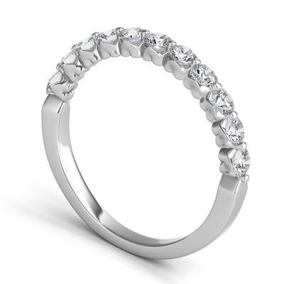 ROYAL PRONG ROUND DIAMOND WEDDING BAND