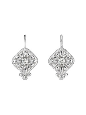Square Fluted Earrings