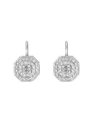 Asscher-Cut Drop Earrings