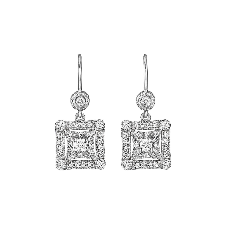 Square Drop Earrings