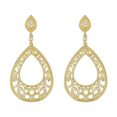 Open Pear Lace Earrings