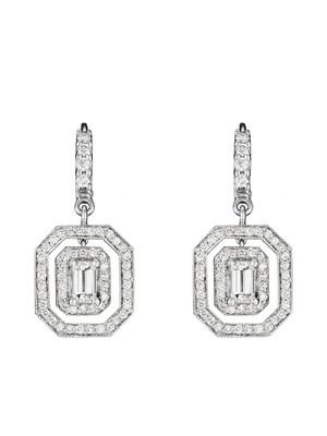 Double Emerald Shape Earrings