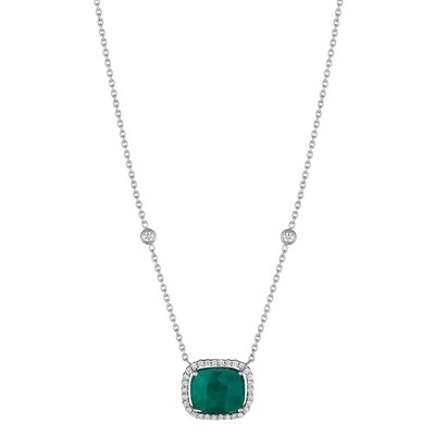 Cushion Emerald Pendant