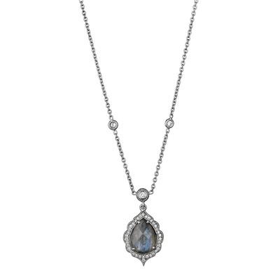 Pear Shape Labradorite Drop Necklace