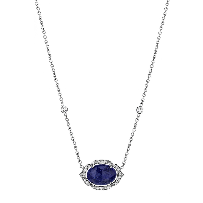Oval Blue Sapphire Pendant