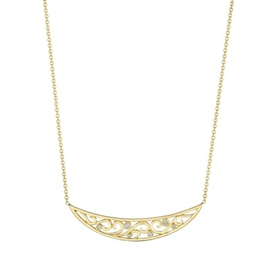 Curved Scroll Bar Necklace