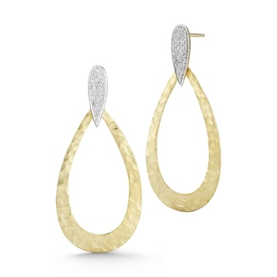14K-Y GALLERY TEAR DROP EARRING