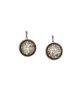 Border Eclipse-Round Earrings Leverback