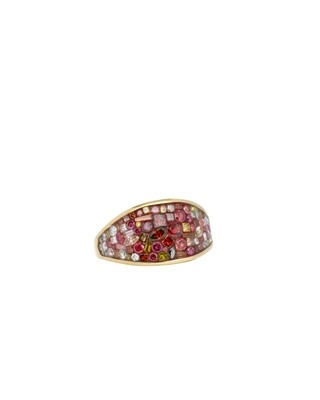 Raspberry Ombre Small Wrap Ring