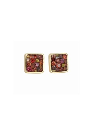 Berry Small Square Studs