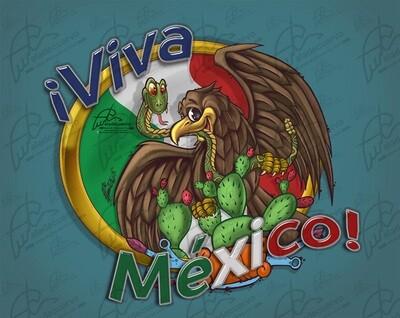 Aguila cartoon festividad Viva México!