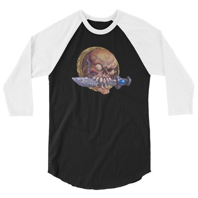Skull Pirate. 3/4 sleeve raglan shirt
