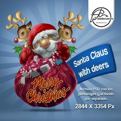 Santa Claus con renos / Santa Claus with deers
