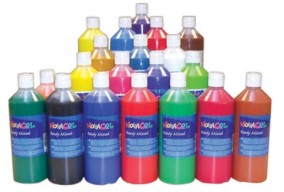 20 Malfarben im Set / 500 ml je Flasche