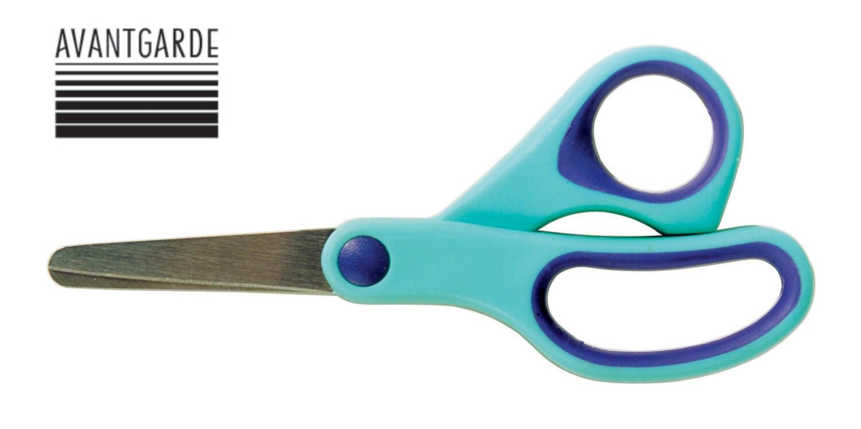 Dastelschere Soft Grip 12 cm / Rund