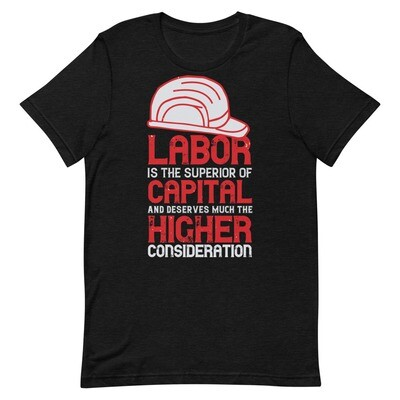 Labor is the superior of capital and deserves much the higher consideration