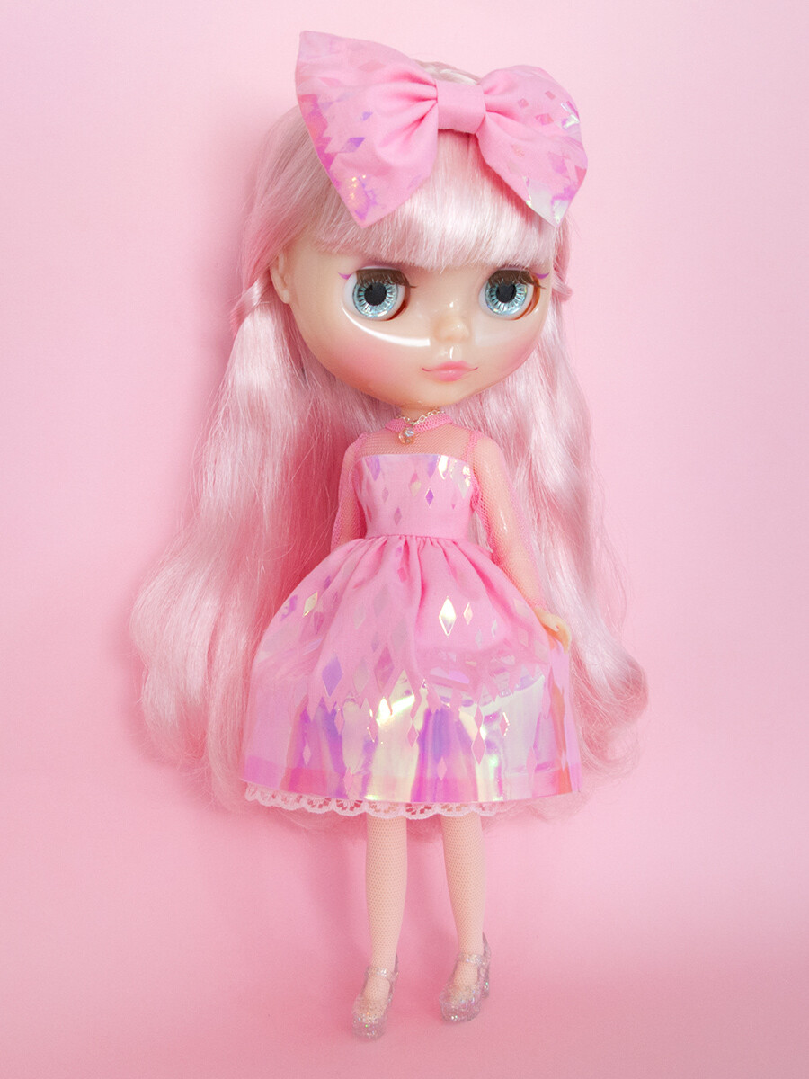 Dazzling Anniversary: Sweet Sixteen dress set for Neo Blythe: PINK Edition