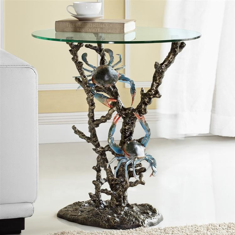 DESIGNER TABLE-CRABS ON CORAL