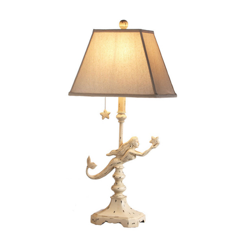 TABLE LAMP-SHABBY CHIC MERMAID