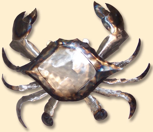 INCREDIBLE METAL WALL ART-CRAB