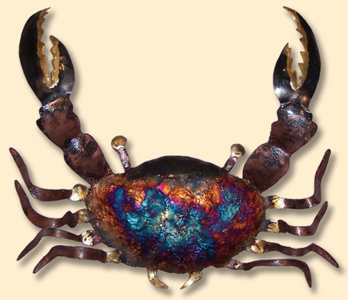 COPPER DRIP WALL ART-CRAB