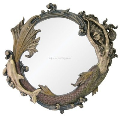 WALL MIRROR-MERMAID & DOLPHIN