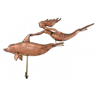 WEATHERVANE-3D MERMAID & DOLPHIN