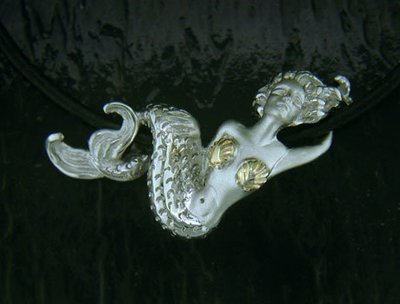 DESIGNER JEWELRY-14k GOLD AND STERLING SILVER MERMAID NECKLACE