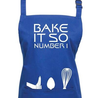 Bake It So Number One Star Trek TNG Apron in 23 colours.