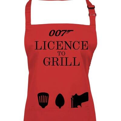 Licence to Grill 007 Apron