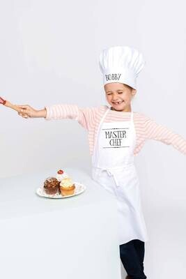 Personalised Children's Master Chef Apron & Hat Gift Set
