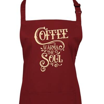 Coffee Warms The Soul. Apron In 23 Colours.